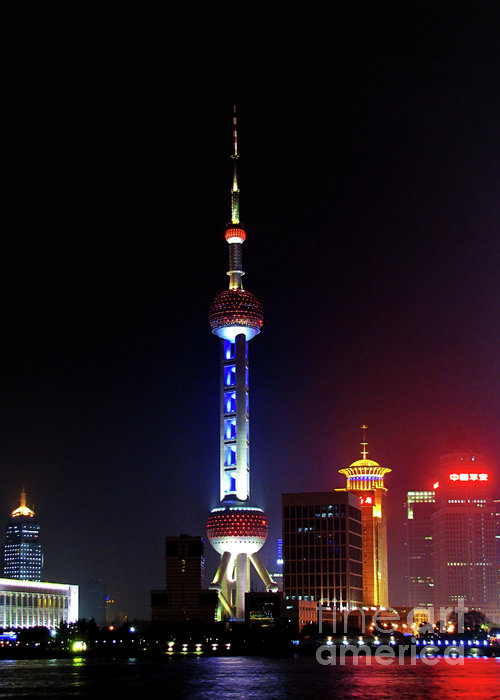 Pudong New District Shanghai - Bigger Higher Faster Print by Christine Till