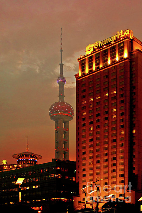 Pudong Shanghai - First City Of The 21st Century Print by Christine Till