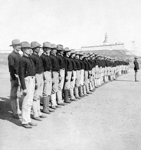 Puerto Ricans Serving In The American Colonial Army - C 1899 Print by International  Images