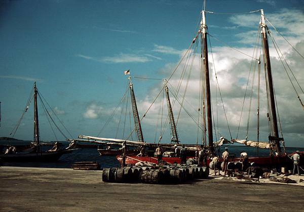 Puerto Rico. A Harbor In Puerto Rico Print by Everett