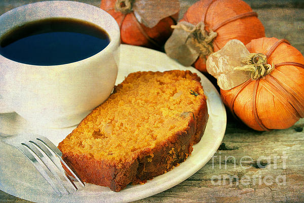 Pumpkin Bread And Coffee Print by Darren Fisher