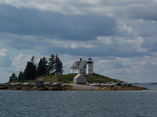 Pumpkin Island Lighthouse Print by Joseph Rennie