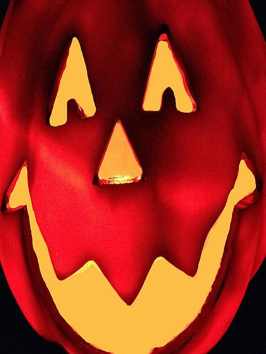 Pumpkin Smile Print by Debra     Vatalaro