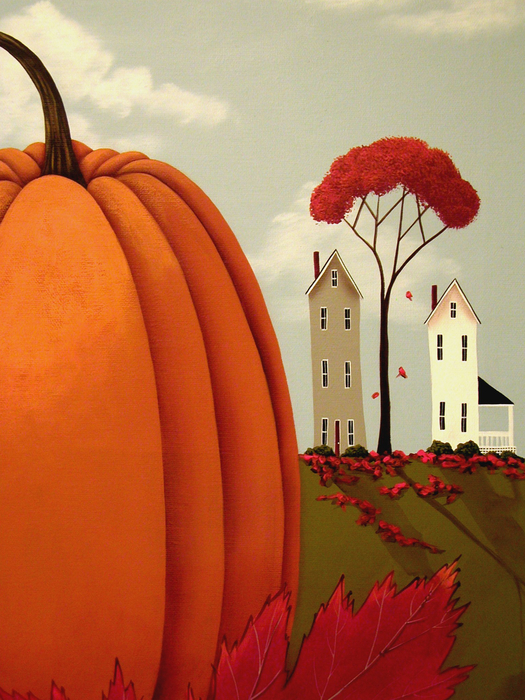 Pumpkin Valley Print by Catherine Holman