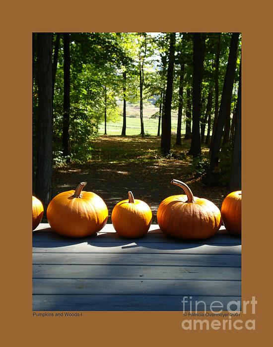 Patricia Overmoyer - Pumpkins and Woods-I