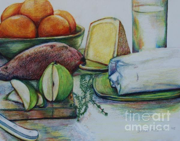 Purchases From The Farmers Market Print by Anna Mize Bell