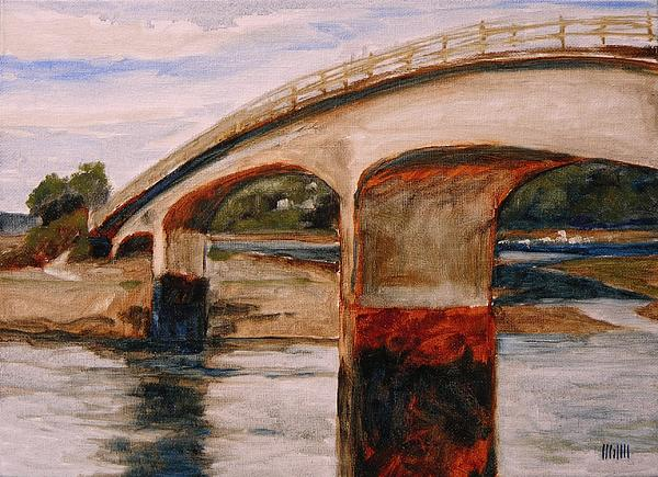 Purdy Bridge At Low Tide Print by Mary McInnis