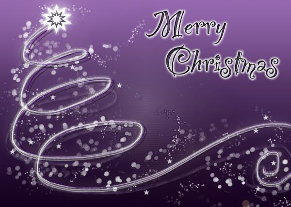 purple Merry Christmas