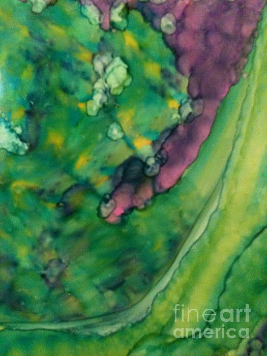 Purple Crevice Print by Joyce Auteri