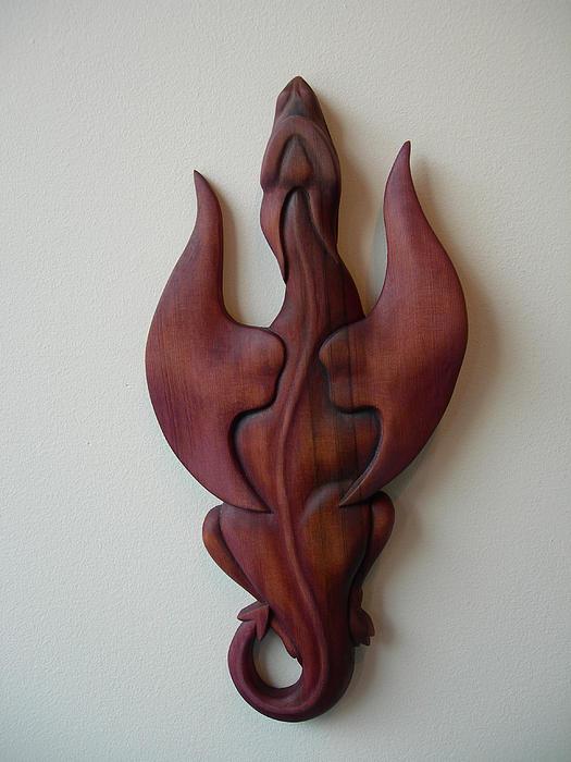 Purple Dragon Plaque Print by Shane Tweten