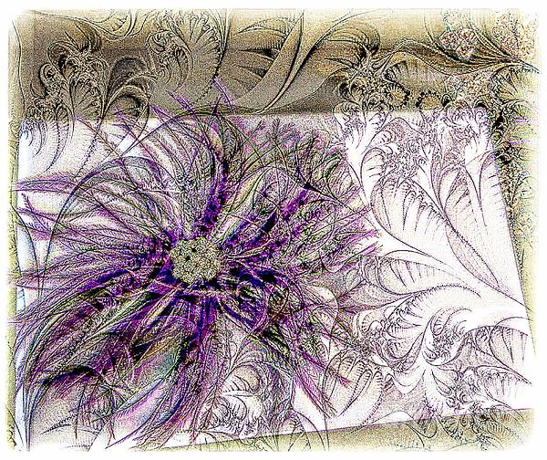 Purple Plume Print by Michelle Frizzell-Thompson
