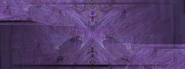 Purple Poeticum Print by Tim Allen