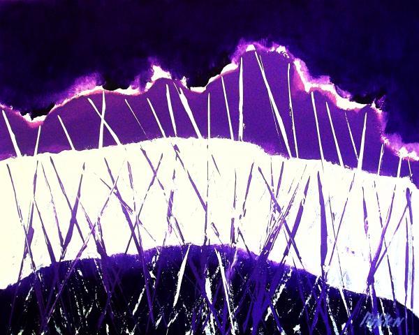 Purple Rain Abstract Print by Marsha Heiken