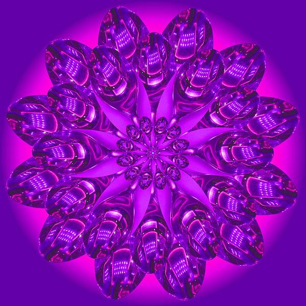 Purple Spoonz Print by Linda Pope