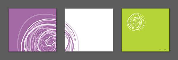 Purple Twirl Print by Nomi Elboim