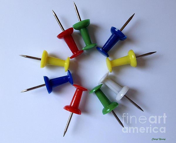 Push Pins Print by Cheryl Young