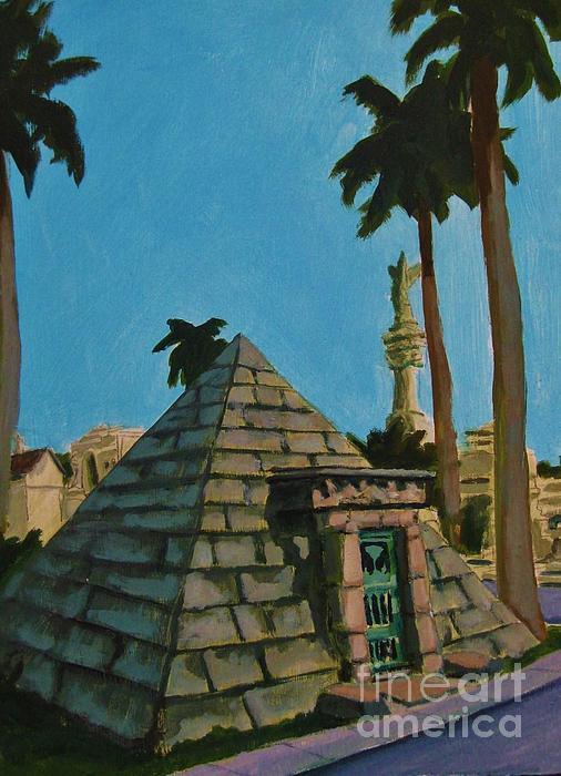 Pyramid Tomb In Cemetary Print by John Malone