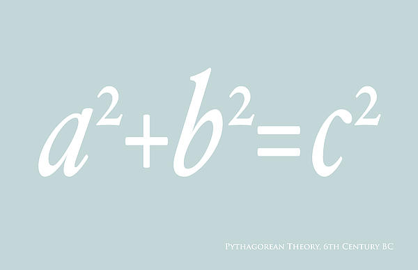 Pythagoras Maths Equation Print by Michael Tompsett