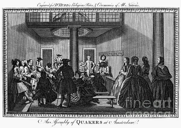 Quaker Meeting, C1790 Print by Granger