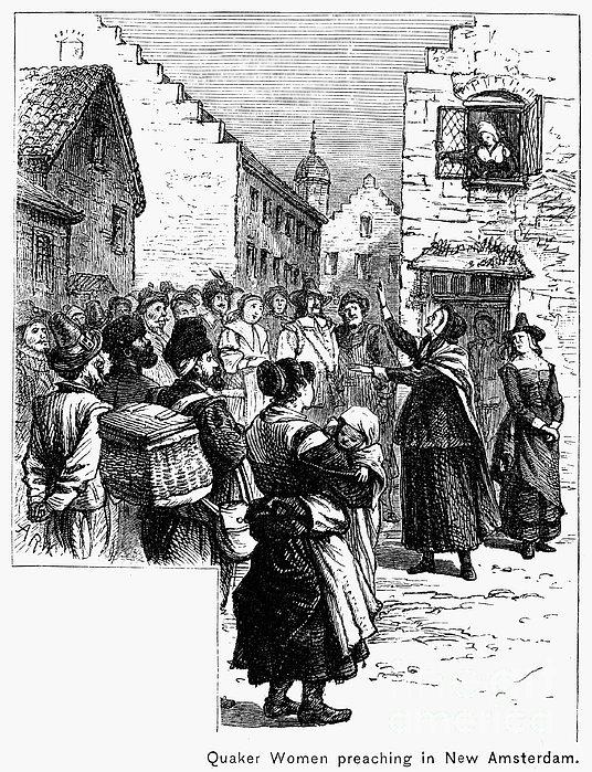 Quaker Preaching, 1657 Print by Granger