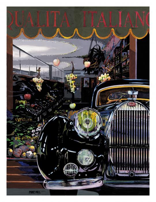 Qualita Italiano Print by Mike Hill