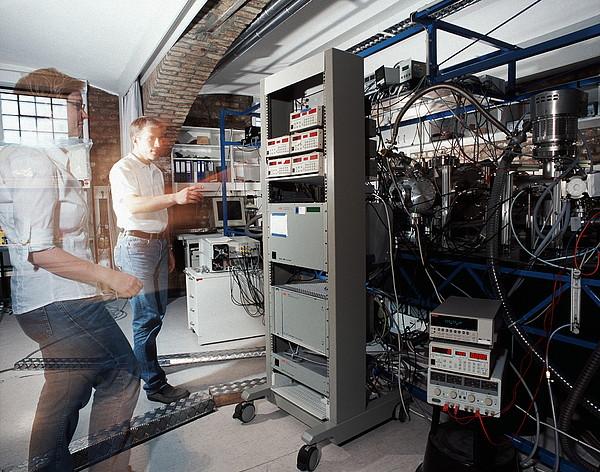 Quantum Entanglement Equipment Print by Volker Steger