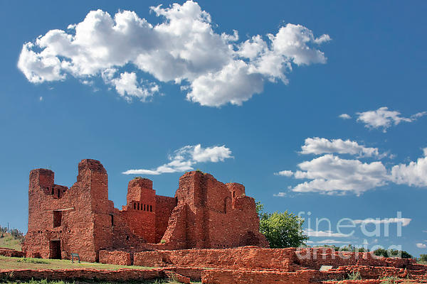 Quarai Ruins At Salinas Pueblo Missions National Monument Print by Christine Till