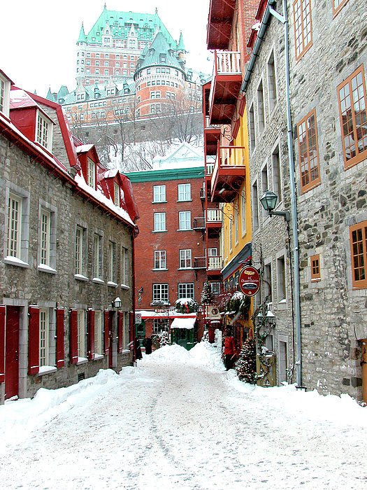 Quebec City Winter Print by Thomas R Fletcher