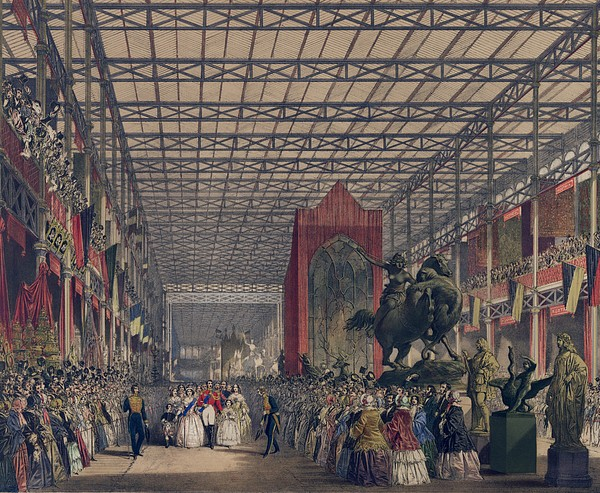 Queen Victoria With Prince Consort Print by Everett