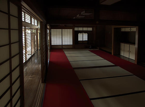 Quietude of zen meditation room kyoto japan print by for Zen meditation room
