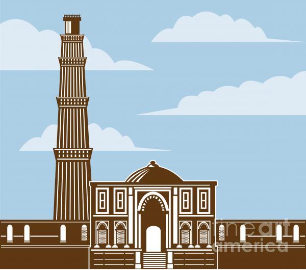 Qutub Minar Print by Aloysius Patrimonio