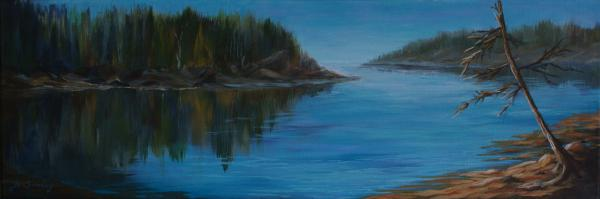 Rabbit Blanket Lake Painting