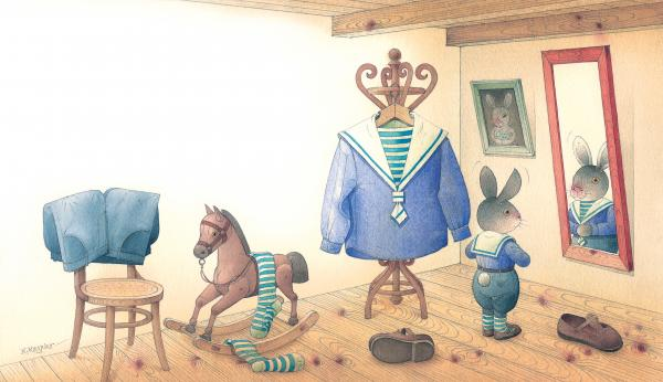 Rabbit Marcus The Great 27 Print by Kestutis Kasparavicius