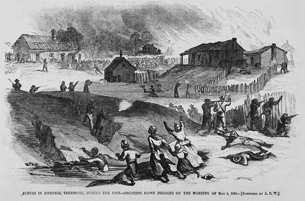 Race Riot In Memphis, Tennessee, May 2 Print by Everett