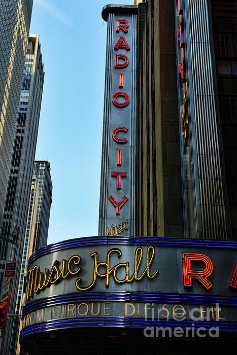 Radio City Music Hall Print by Paul Ward