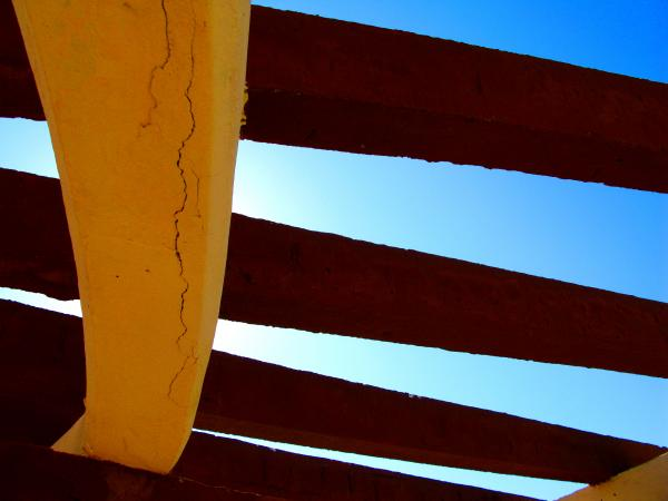 Rafters And Sky By Michael Fitzpatrick Print by Olden Mexico