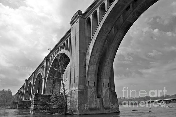 Railroad Bridge Richmond Va Print by Sean Cupp