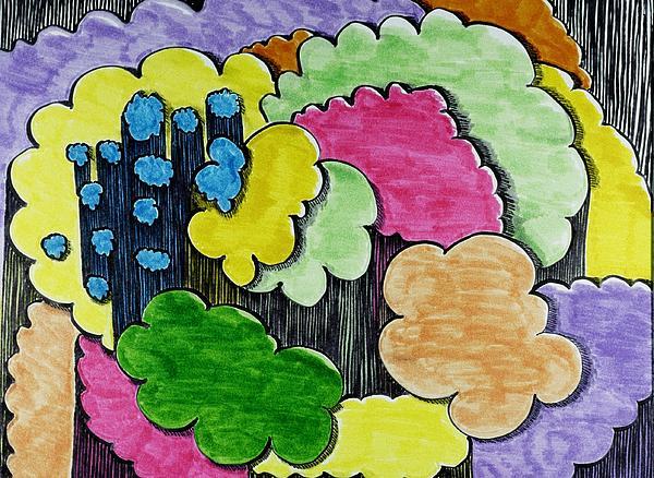 Rain Clouds Print by Lesa Weller