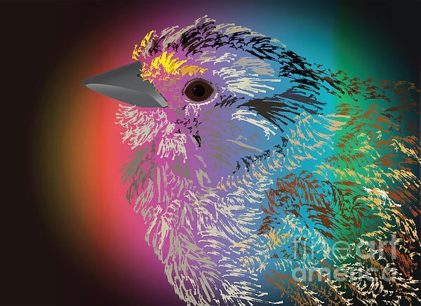 Rainbow Bird Print by Michelle Bergersen