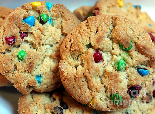 Rainbow Cookies Print by Barbara Griffin