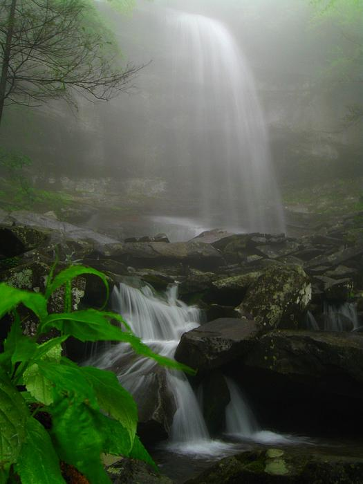 Doug McPherson - Rainbow Falls in fog
