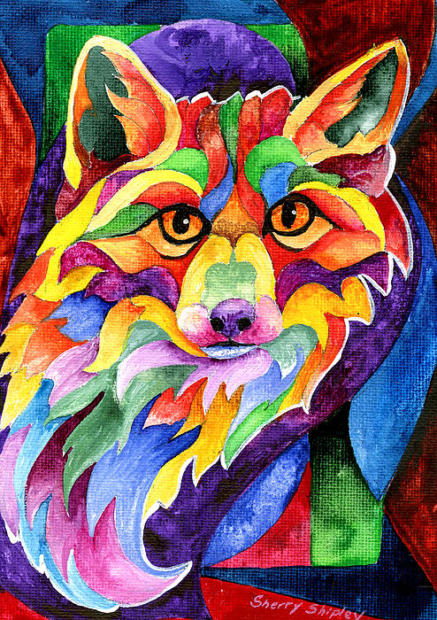 Sherry Shipley - Rainbow Fox