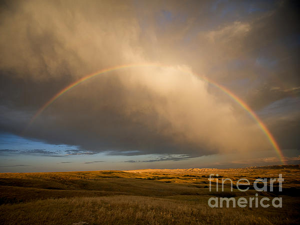 Chris  Brewington Photography LLC - Rainbow in Badlands