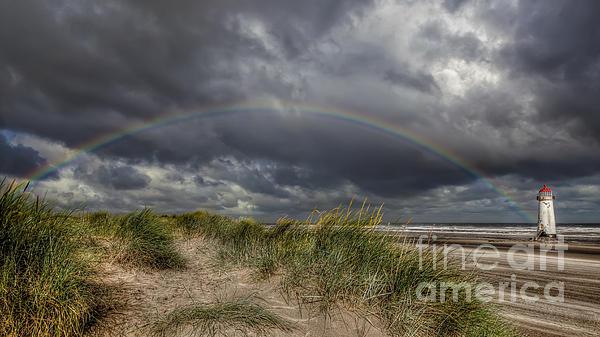 Rainbow Lighthouse Print by Adrian Evans