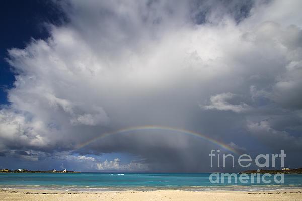 Rainbow Over Emerald Bay Print by Dennis Hedberg