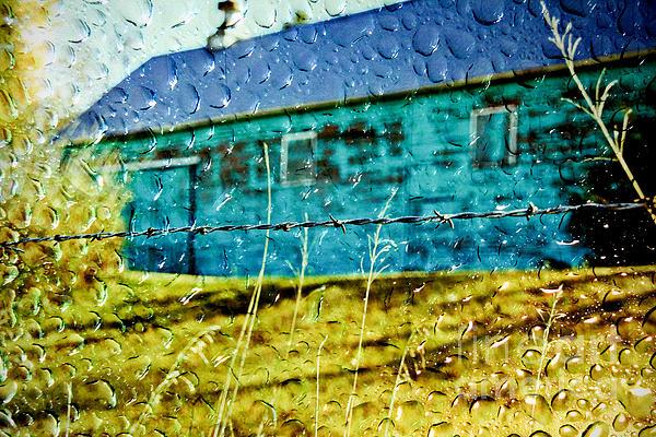 Rainy Barn Print by Jill Hyland