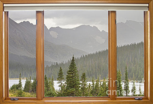 James BO  Insogna - Rainy Colorado Rocky Mountain Summer Picture Window View