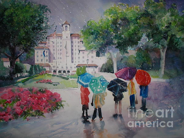 Rainy Day At The Broadmoor Hotel Print by Reveille Kennedy