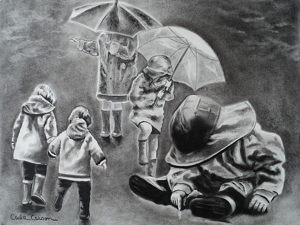 Rainy Daze Print by Carla Carson