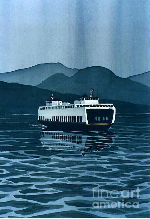 Rainy Ferry Print by Scott Nelson
